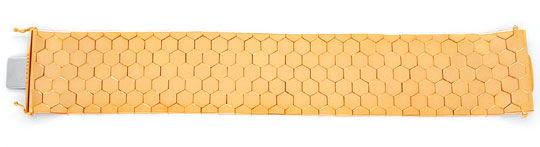 Foto 2, Waben-Armband, Rötliches Gelbgold 18K/750 Luxus! - Neu!, K2919