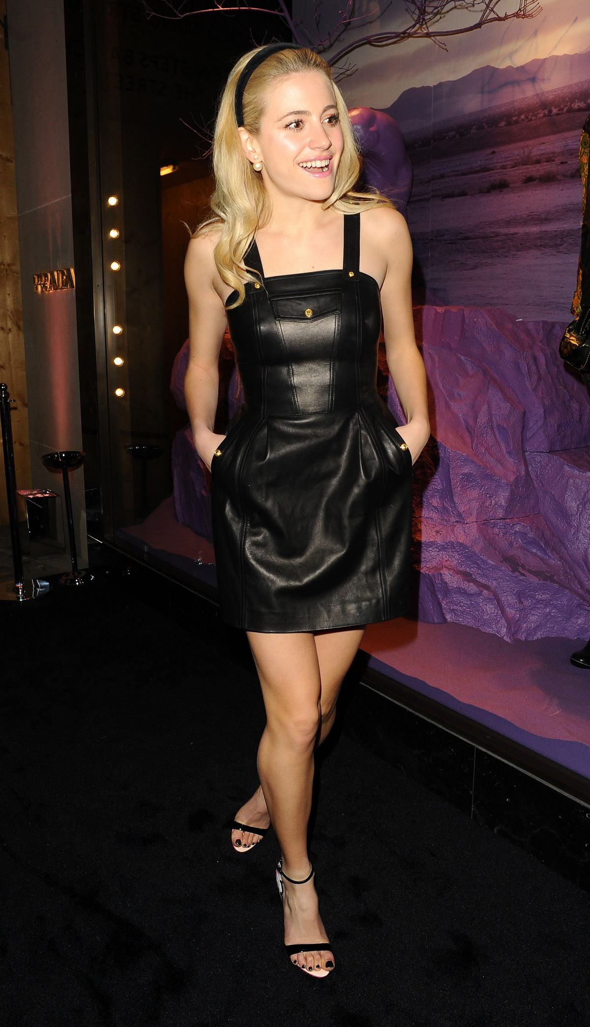 PIXIE LOTT at Prada Fashion Show in London
