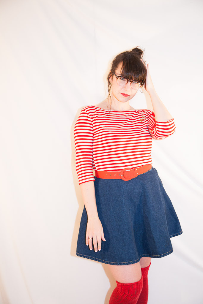 American Apparel Circle Skirt Joules Wellies