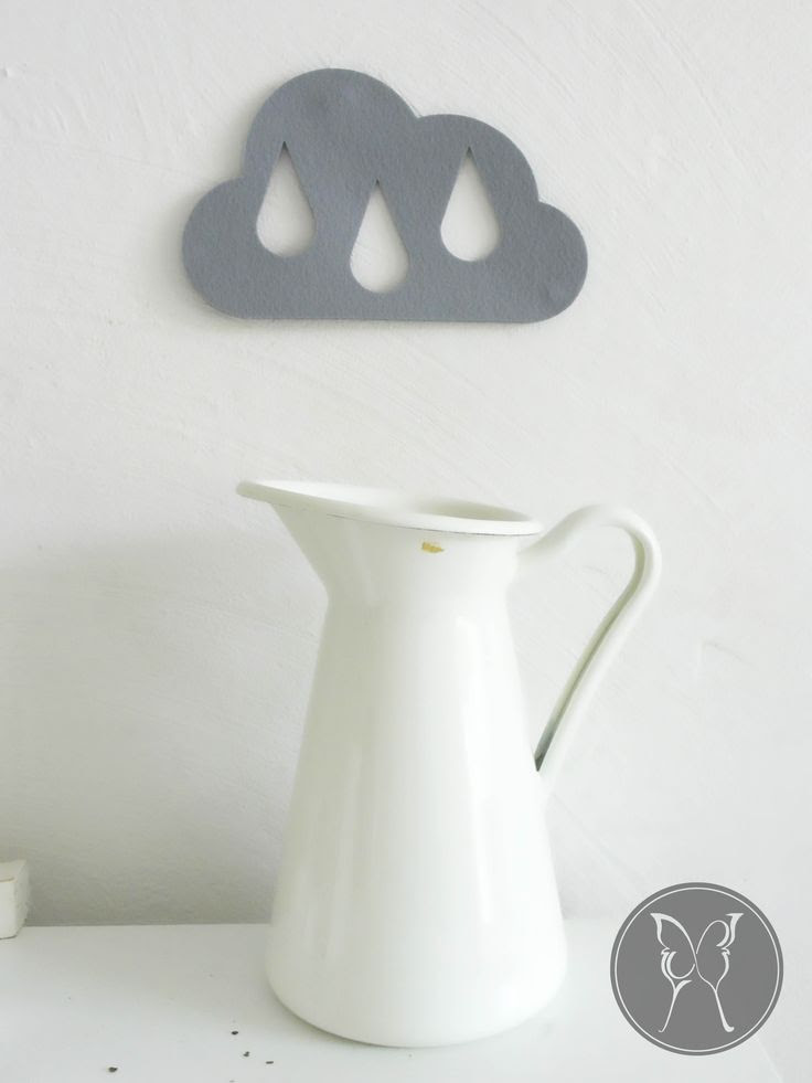Grey felt rain cloud coaster by LaNiqueHOME