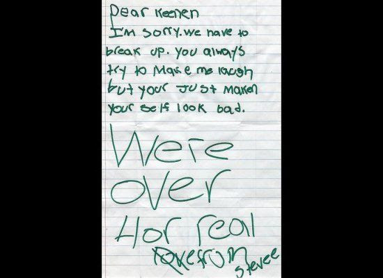 funny break up letters to girlfriend