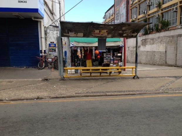 Com paralisão, pontos de ônibus de São Luís ficam vazios (Foto: Zeca Soares/G1)