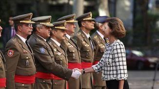 Cospedal saluda la cúpula de l'exèrcit (EFE)
