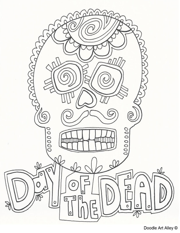 33 Day Of The Dead Coloring Sheets - Free Printable Coloring Pages