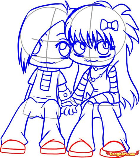cute cartoons hugging   clip art
