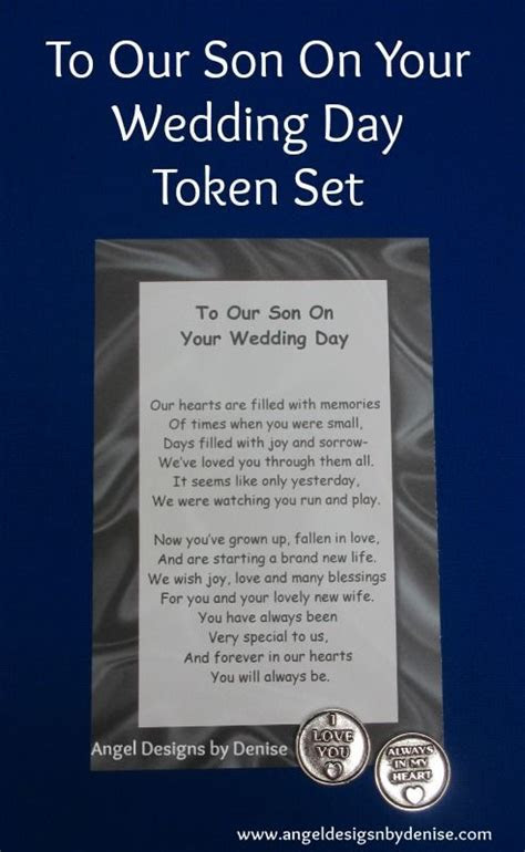 To Our Son On Your Wedding Day Token Set This poem with a