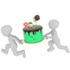 Medevso - Cooking figure 3D artwork