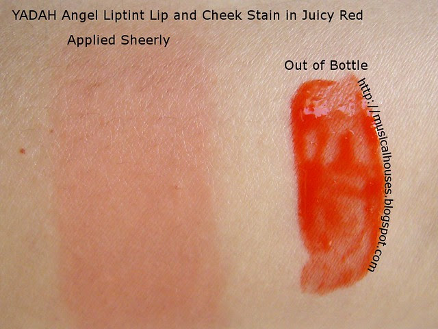 yadah angel liptint swatch