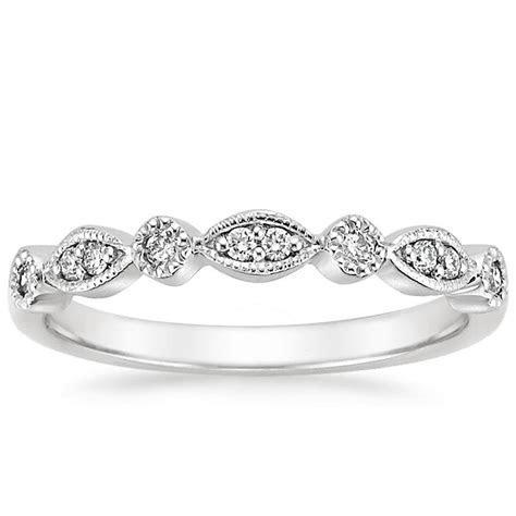 18K White Gold Tiara Diamond Ring, top view
