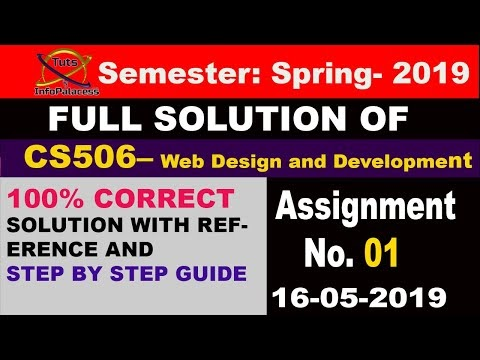 CS506 Assignment 1 Solution Spring 2019 with Step by Step Guideline