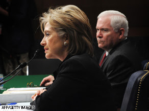 Secretary of State Hillary Clinton and Secretary of State Robert Gates appear before Senate committee Thursday.