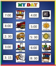 My Daily Schedule: A free printable visual schedule | Preschool ...