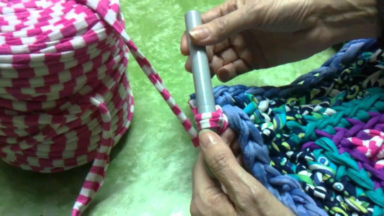 Tutorial: Como hacer alfombra de trapilho a ganchillo ...