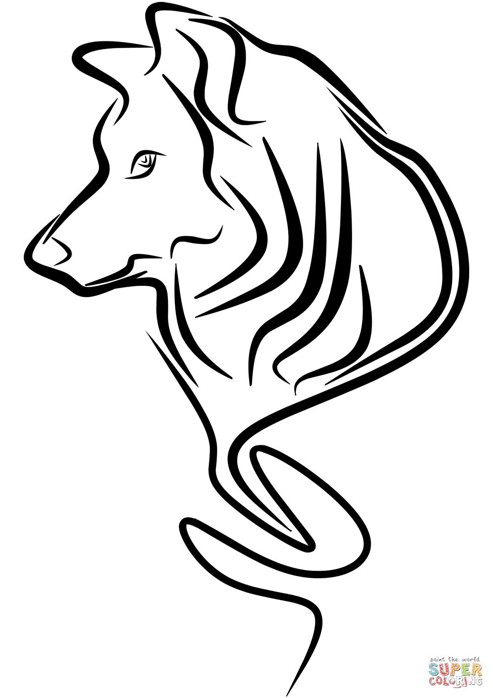 Dibujo De Tatuaje De Lobo Para Colorear Dibujos Para Colorear