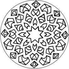 Dibujos Para Colorear Mandala Estrella Flechas Y Rombos Es