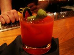 Cachaca-Raspberry-Sage cocktail