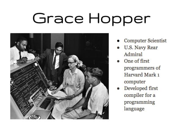 Grace Hopper Google Slides Slide Presentation