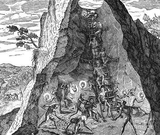 «Para la perdición completa de esta tierra, fue descubierta una boca al infierno, dentro de la cual una gran masa de gente ingresa cada año y es sacrificada a la avaricia que tienen los españoles por su 'dios'». Domingo de Santo Tomás, Consejo de las Indias, 1550.