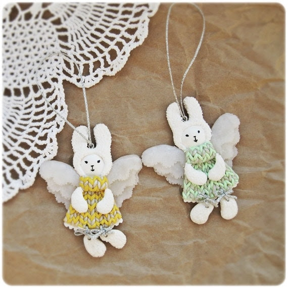 Easter Fairy Bunnies - Angels - decor