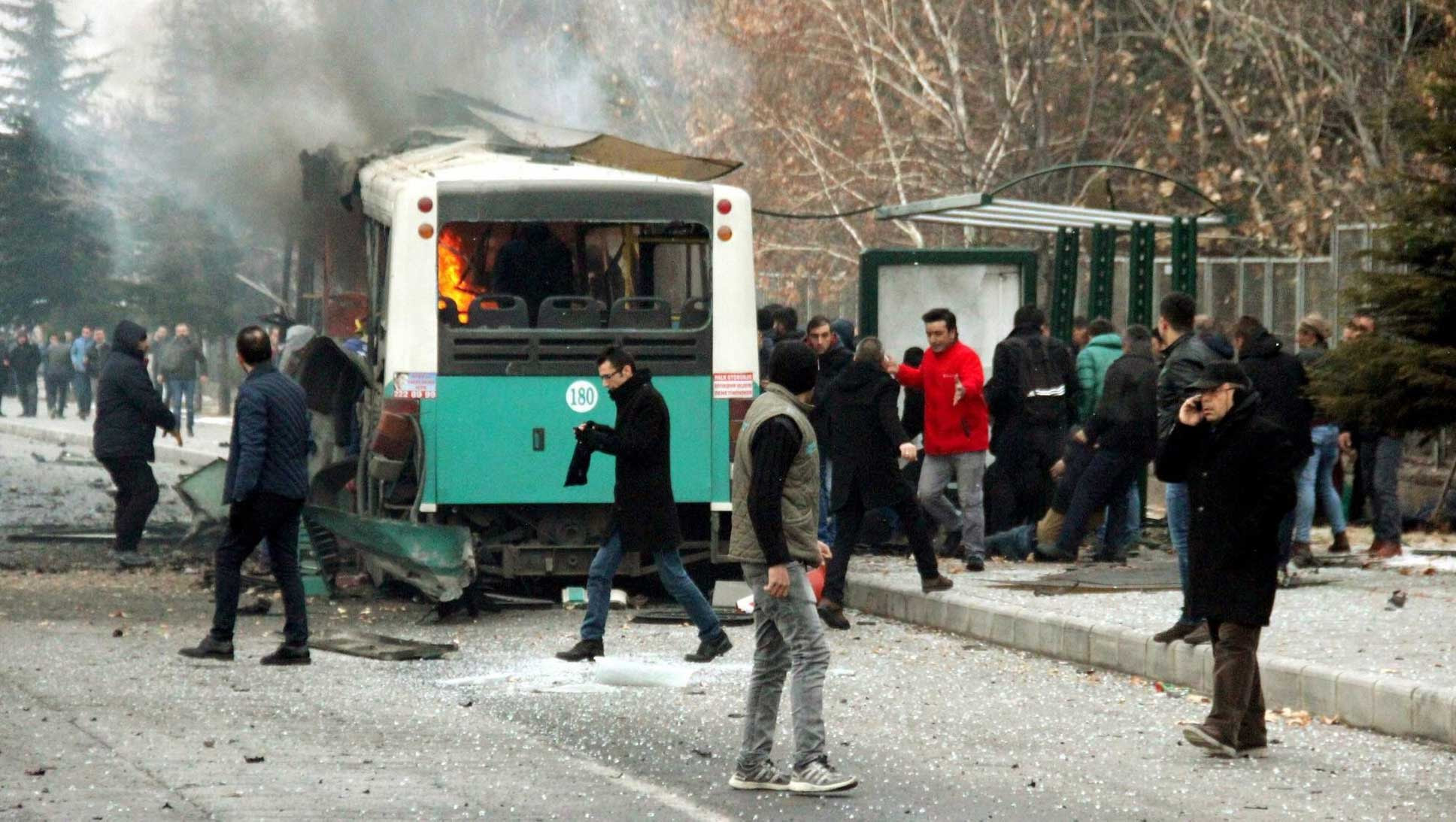 13 #Turkish soldiers killed, 48 wounded in Kayseri bombing