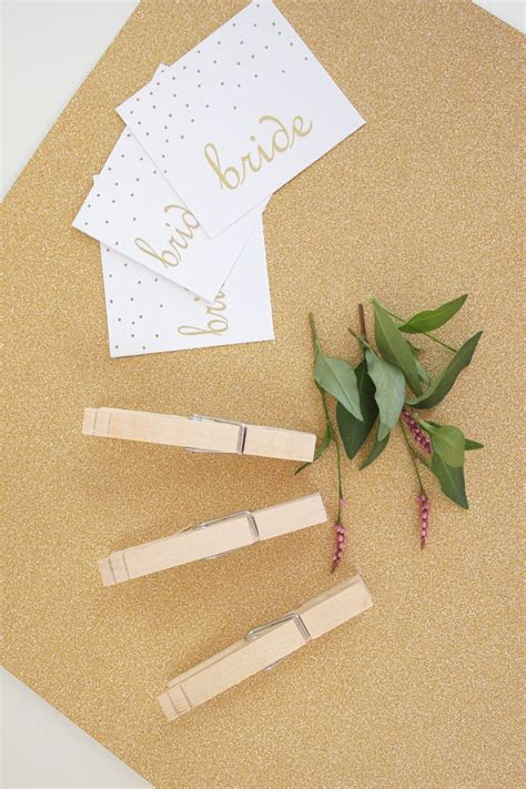 Glitter Clothespin Place Card Holders   Catch My Party