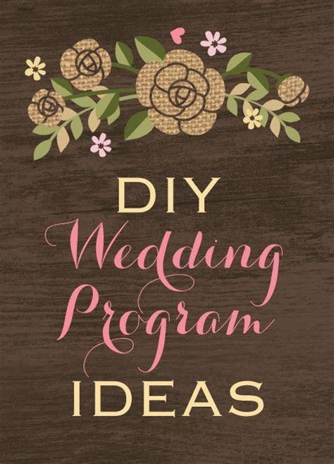 DIY wedding program ideas
