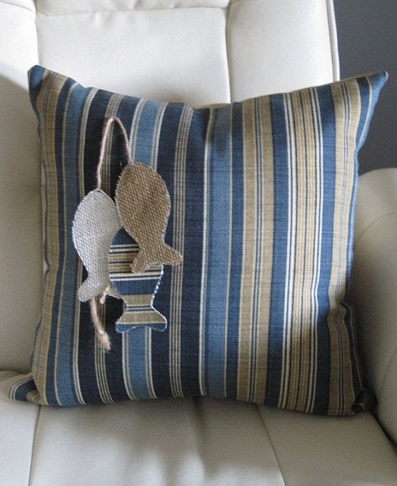 Tommy Bahama Vera Cruz Ocean Nautical Pillow by Floatinteriors