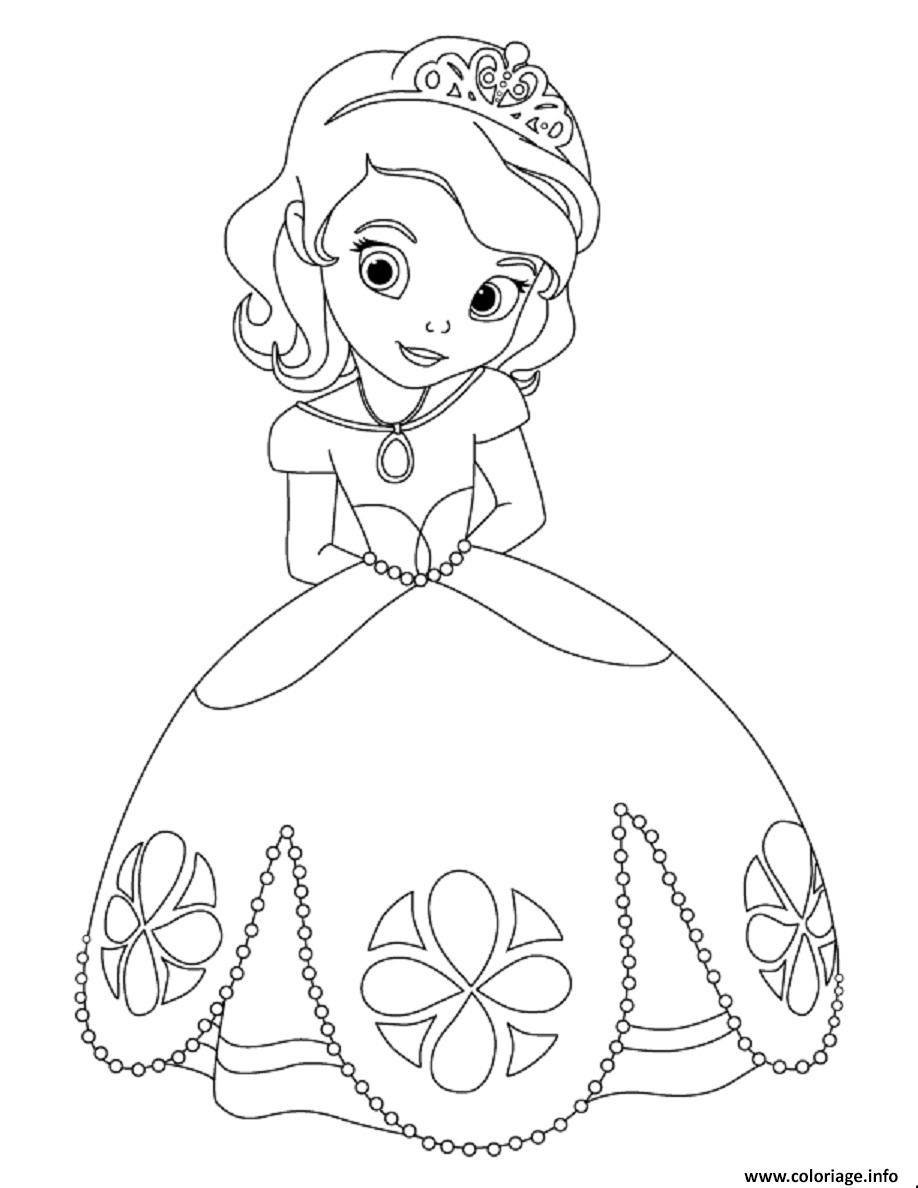 Coloriage Princesse Sofia Timide Lors Du Bal Dessin  Imprimer