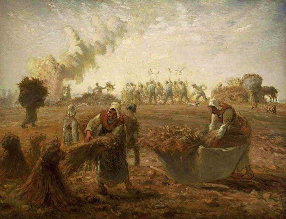 Buckwheat Harvest: Summer by Jean-François Millet.