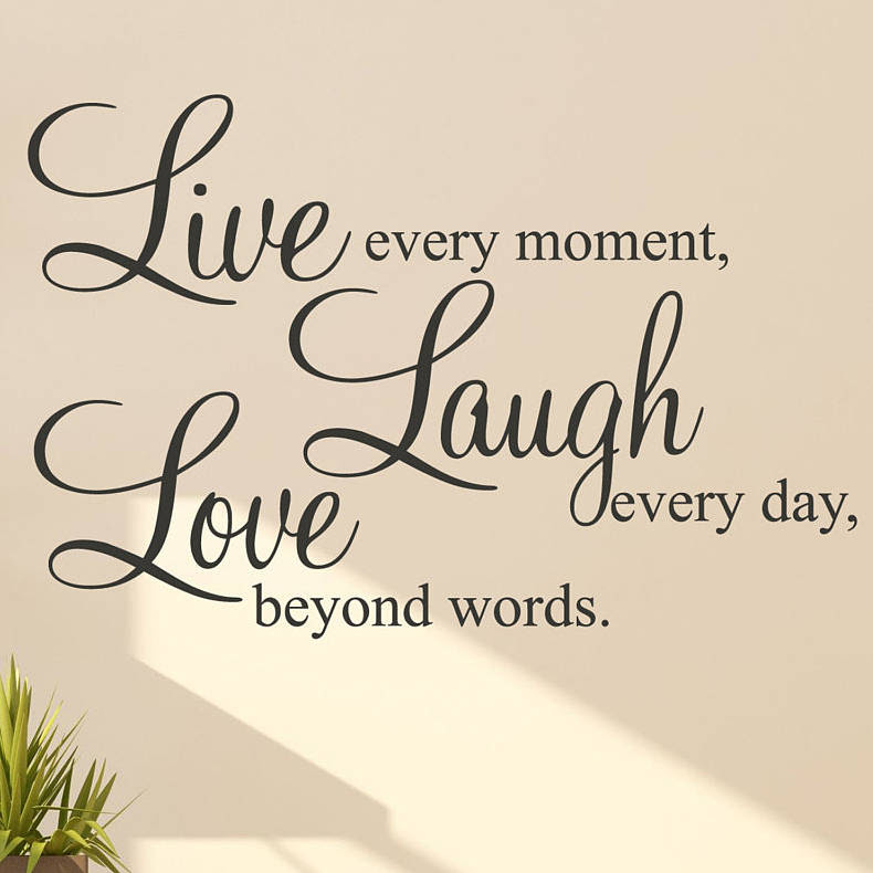 \u002639;live laugh love\u002639; wall stickers quotes by parkins