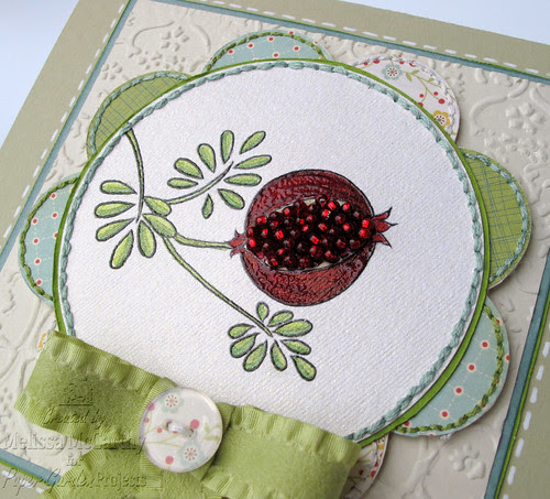 Paper Garden Projects pomegranite card CLOSE mel stampz