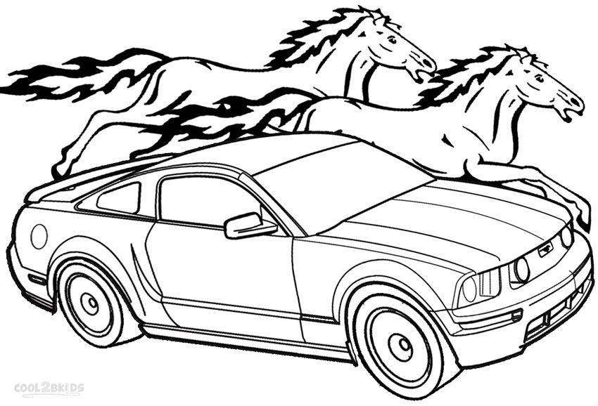 6700 Free Coloring Pages Mustang Cars Pictures