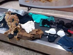 Passageira teve peças íntimas expostas em aeroporto (Foto: Marcella Gozzi/ Arquivo pessoal)