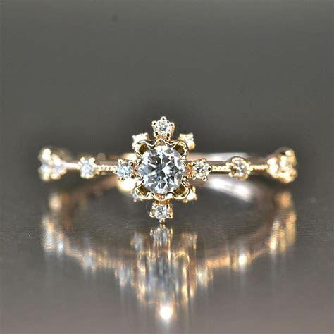 Snowflake Cluster diamond engagement ring   Kataoka   The