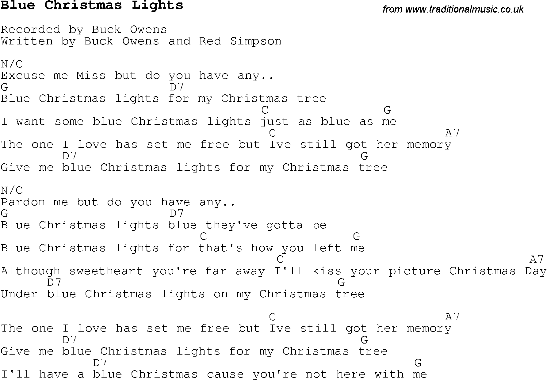 comproxy - I Ll Have A Blue Christmas Lyrics