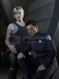 The two heroes of Battlestar Galactica.