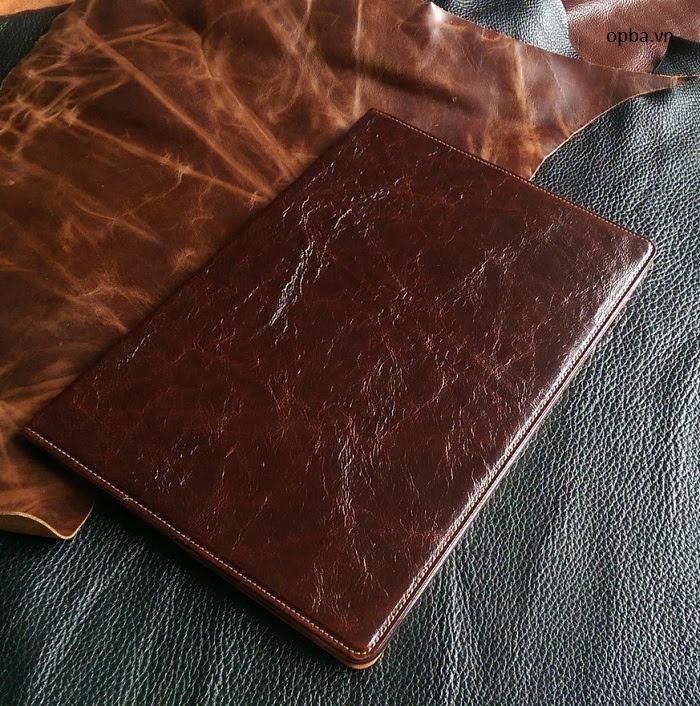 Bao da ionecase ipad pro 12'9 inch leather màu nâu made in việt nam
