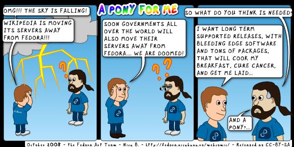 [fedora webcomic: pony]
