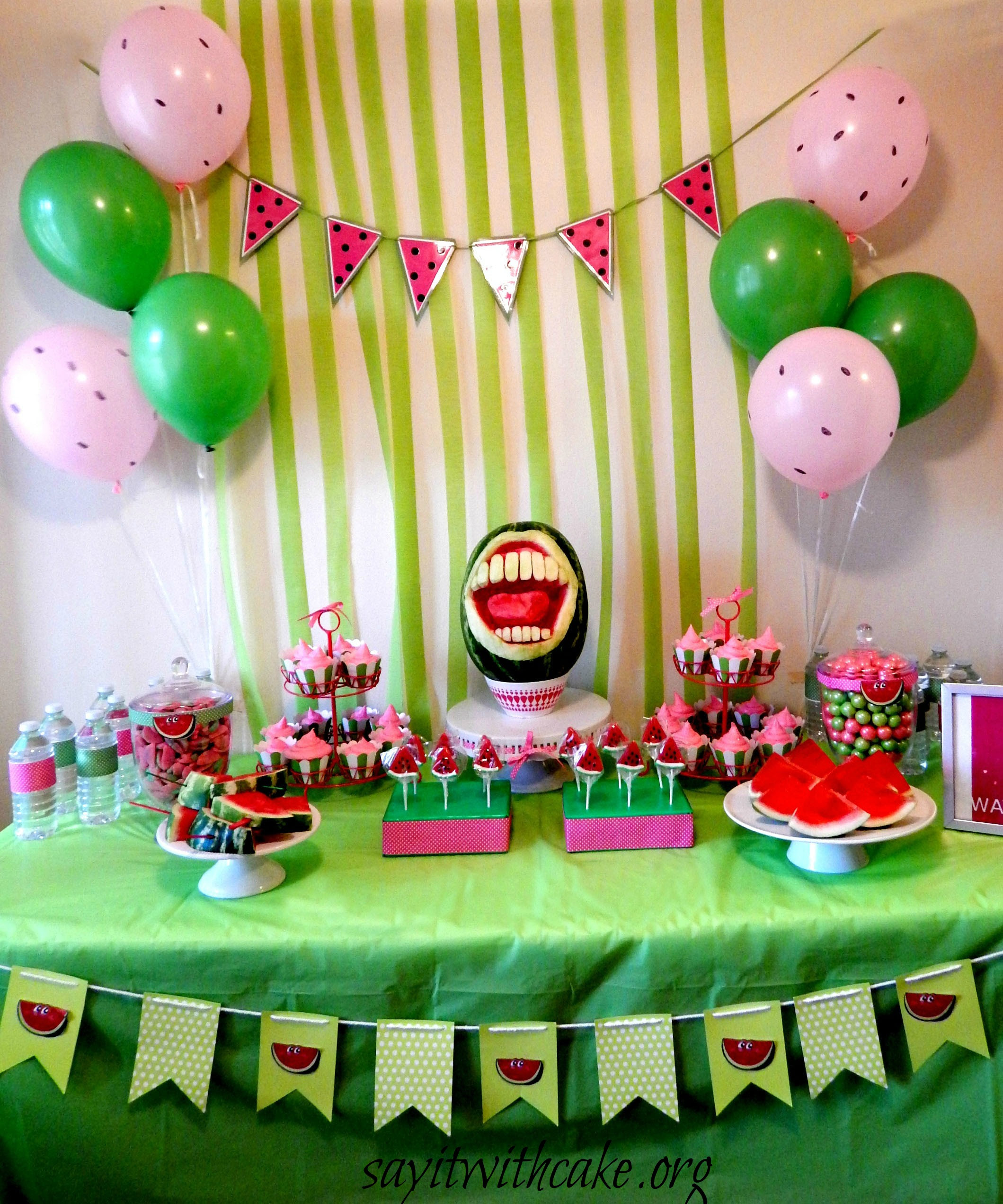 End Of Summer Watermelon Party Say It With Cake