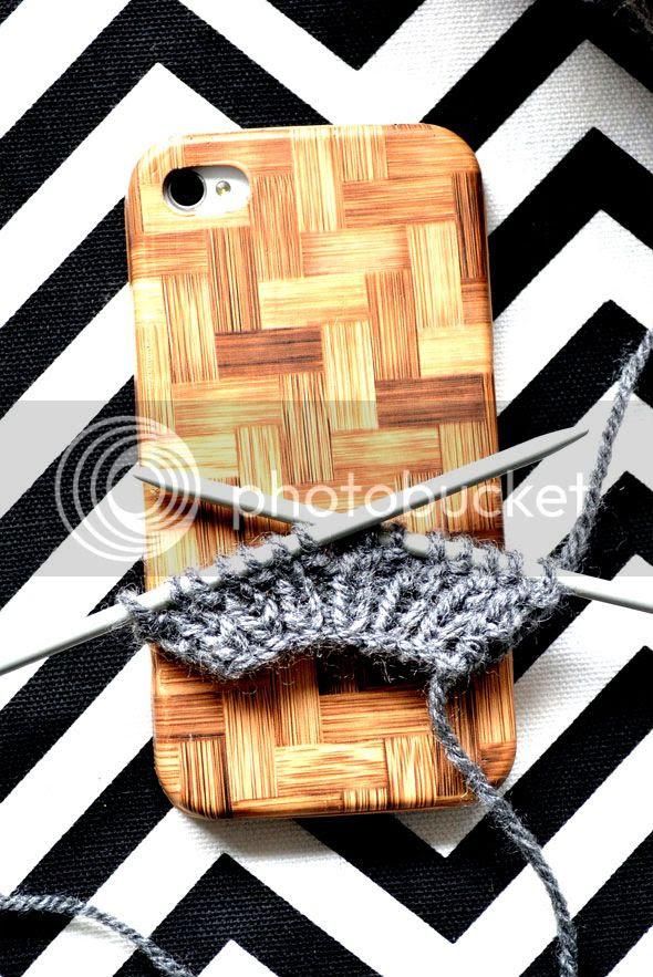 Boordje voor iPhonehoesje breien