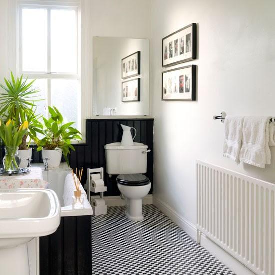 Black and white bathroom   Bathroom design   housetohome.
