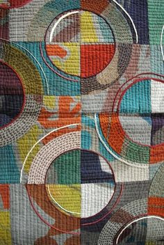 satsumastreet:  Hand quilting and sashiko, detail from the Tokyo International Quilt Festival 2011