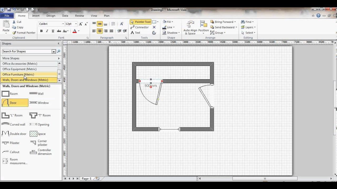 Microsoft Visio  Floor  Plan  YouTube