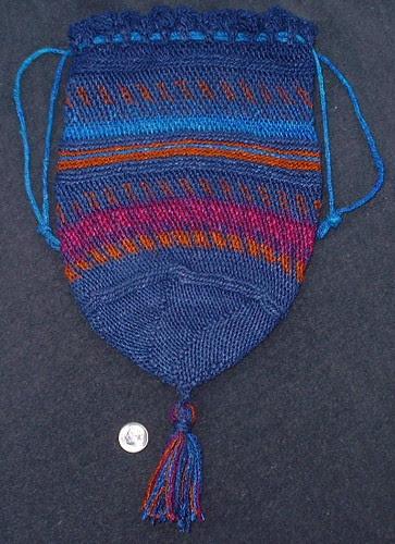 silk crocheted bag