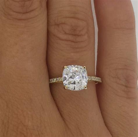 2.50 CT CUSHION CUT VS DIAMOND SOLITAIRE ENGAGEMENT RING