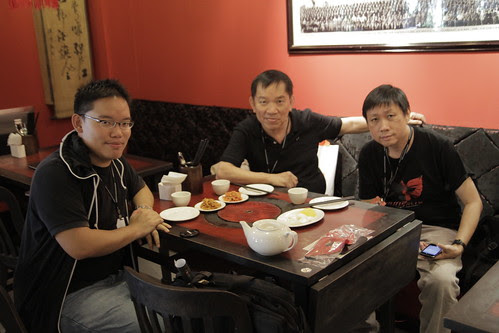 With dad and Philip at the Mao restaurant