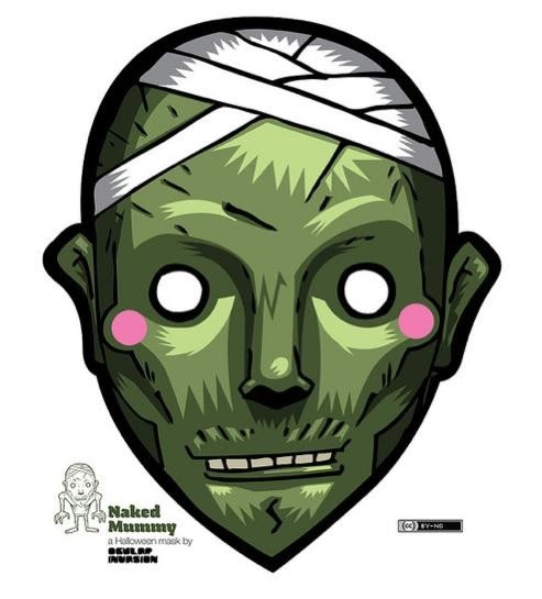 Last-Minute Halloween Quickie: 100+ Free Printable Masks ...
