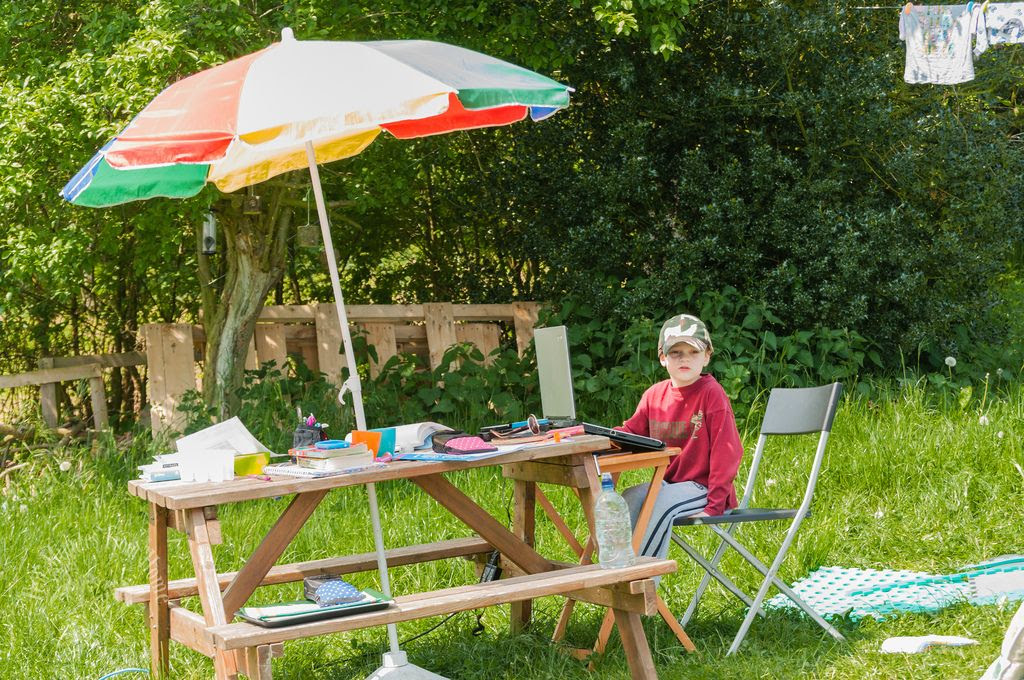 Whenever!, School Al Fresco ~ who wants to work inside when the weather just doesn't want to be missed!