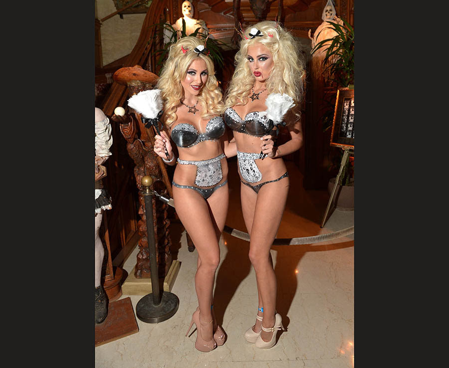 Guests attend Playboy Mansion's Annual Halloween Bash at The Playboy Mansion