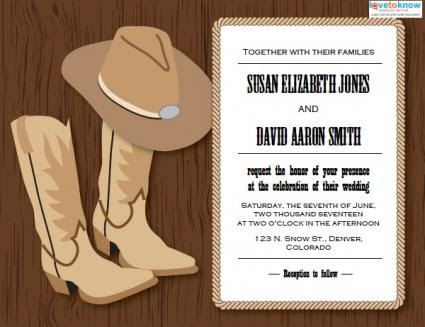 178355 425x327 Western Wedding Invitation 1